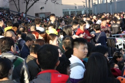 Tsim Sha Tsui gathering crowd